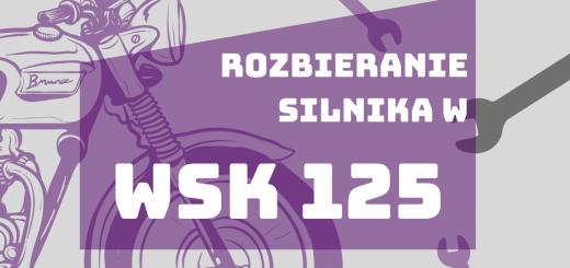 Rozbieranie silnika w WSK 125