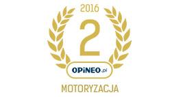 Zajęliśmy 2 miejsce w kategorii Motoryzacja w Opineo.pl