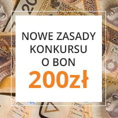 Zmiana zasad konkursu o bon 200zł